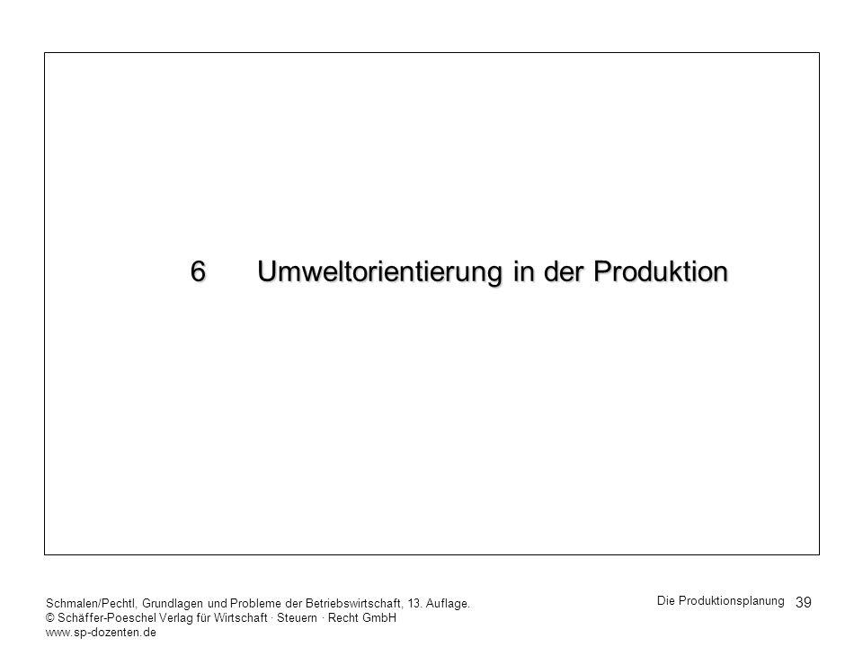 6 Umweltorientierung in der Produktion