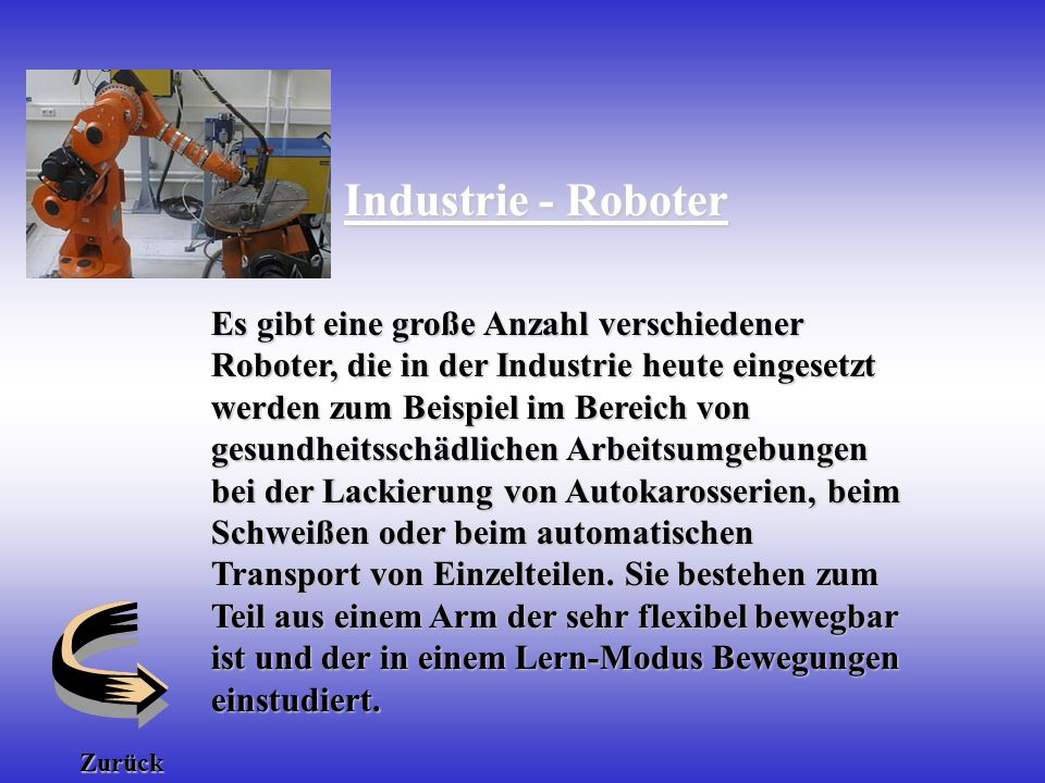 robotik roboter typen von robotern ppt herunterladen. Black Bedroom Furniture Sets. Home Design Ideas