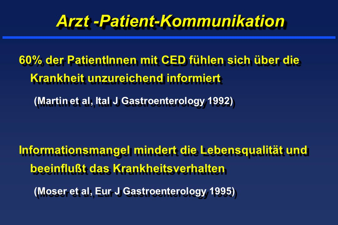 Arzt -Patient-Kommunikation