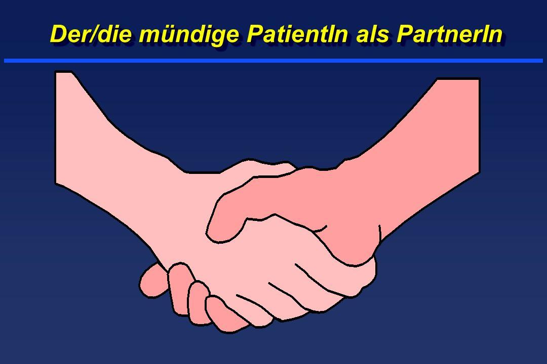 Der/die mündige PatientIn als PartnerIn