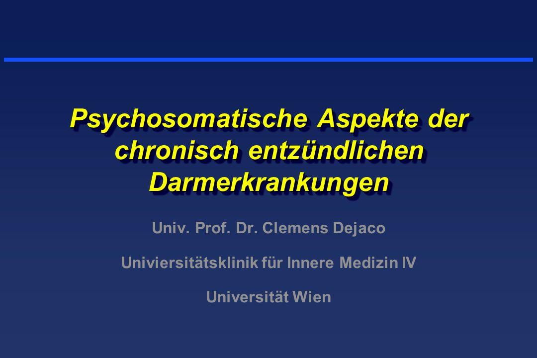 Psychosomatische Aspekte der chronisch entzündlichen Darmerkrankungen