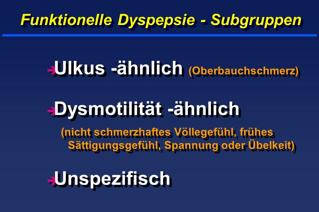 Funktionelle Dyspepsie - Subgruppen