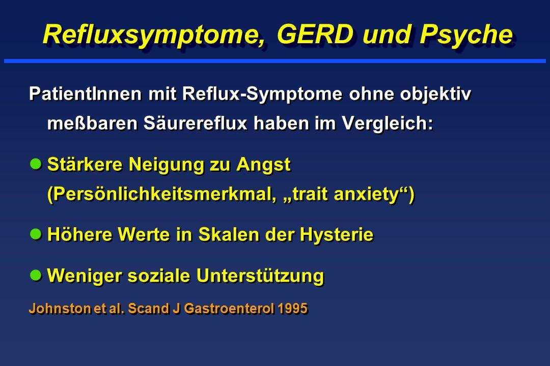 Refluxsymptome, GERD und Psyche