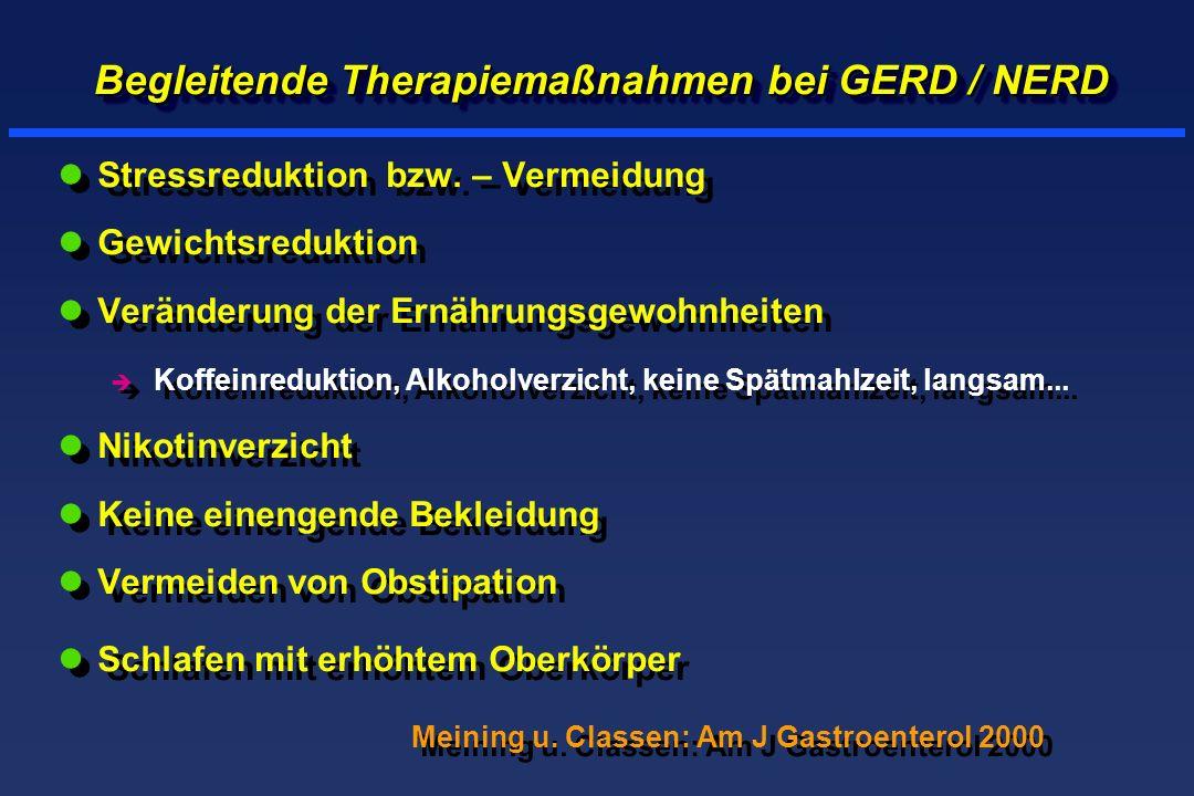 Begleitende Therapiemaßnahmen bei GERD / NERD