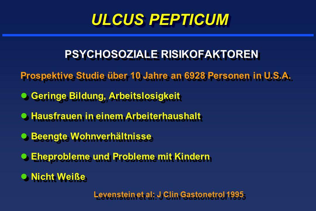 PSYCHOSOZIALE RISIKOFAKTOREN Levenstein et al: J Clin Gastonetrol 1995