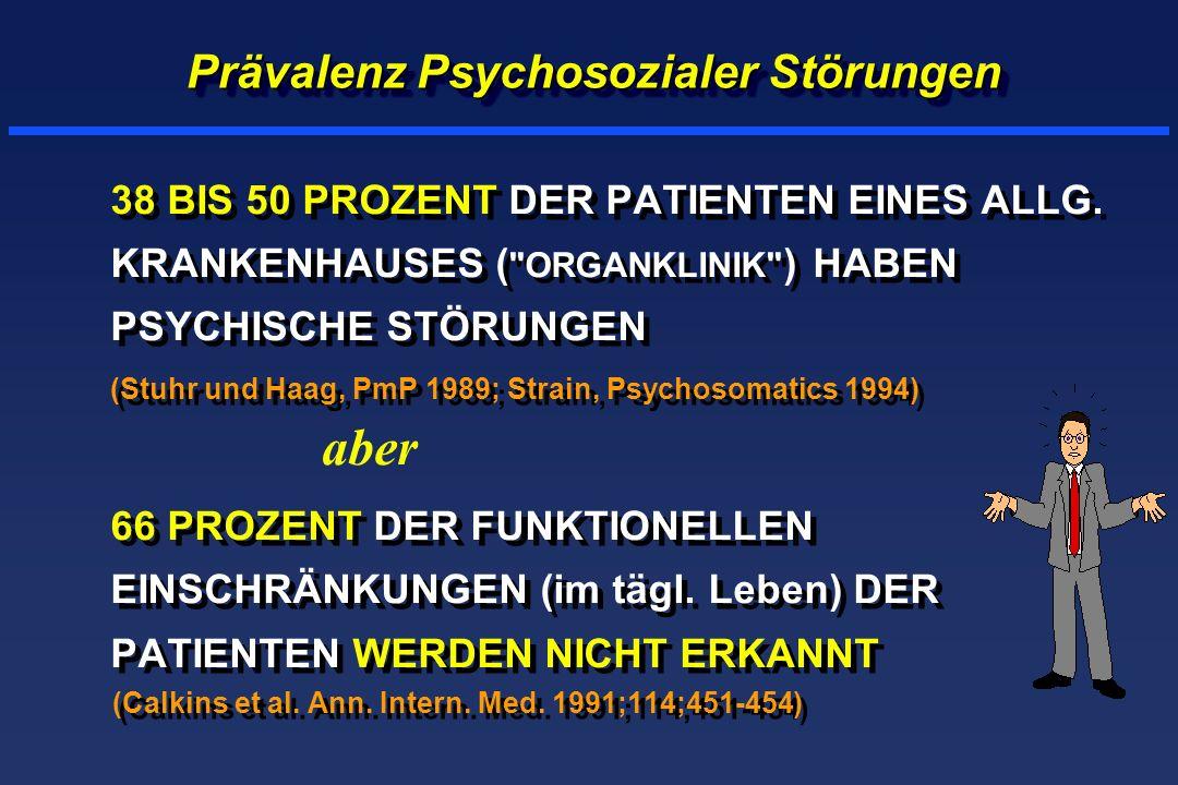 Prävalenz Psychosozialer Störungen