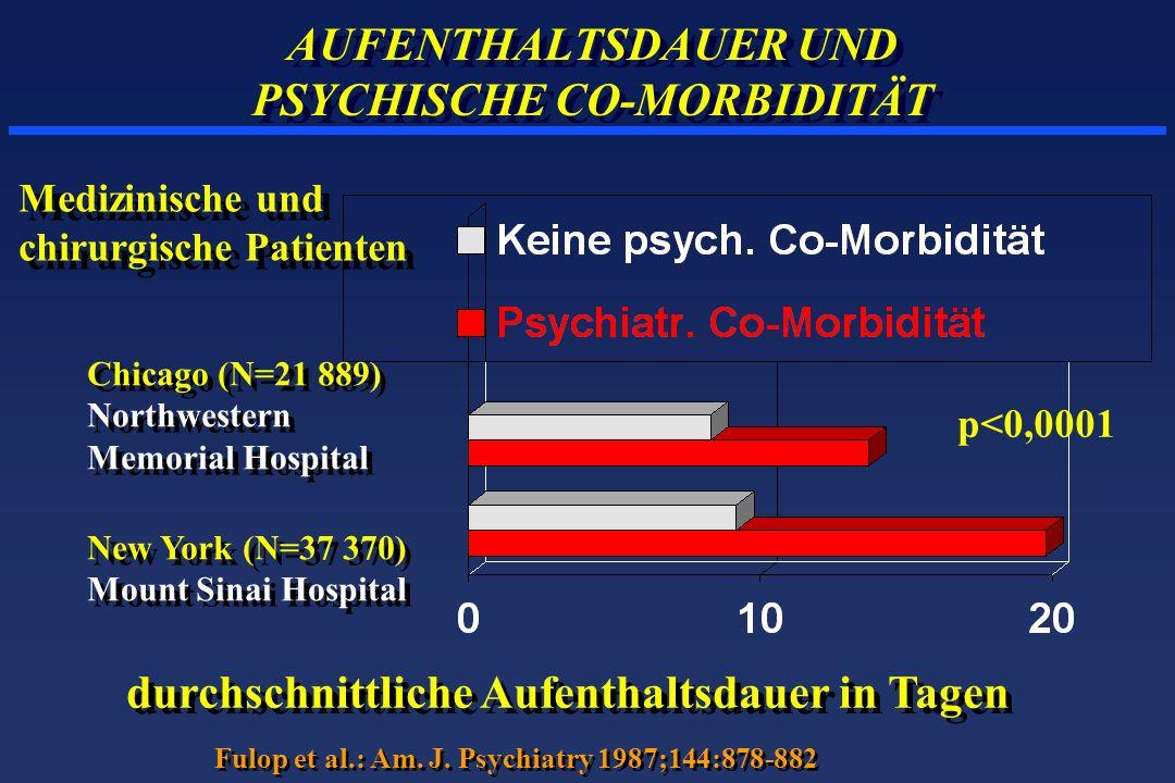 AUFENTHALTSDAUER UND PSYCHISCHE CO-MORBIDITÄT
