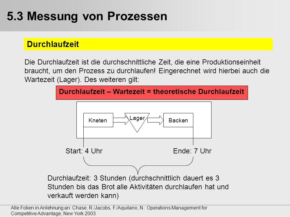 5.3 Messung von Prozessen Durchlaufzeit