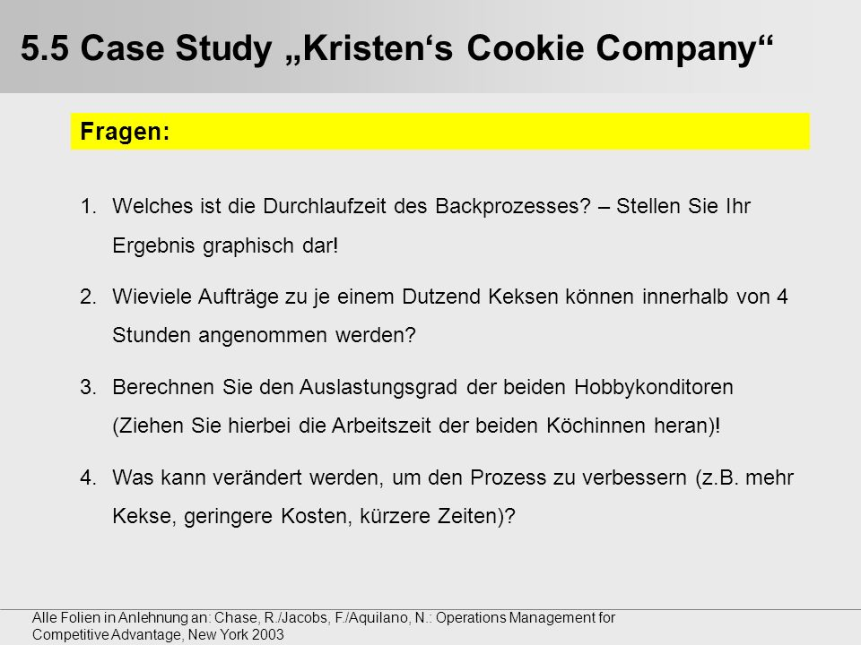 kristen s cookie company a1 The level of discussion varies from strategical to daily control of business  processes • course objective: the  kristen's cookie company (a1), 3p, hbs  case 9-686-093 – toyota motor  cause-effect relationship(s) – 27%  quiz a:  oct 23.