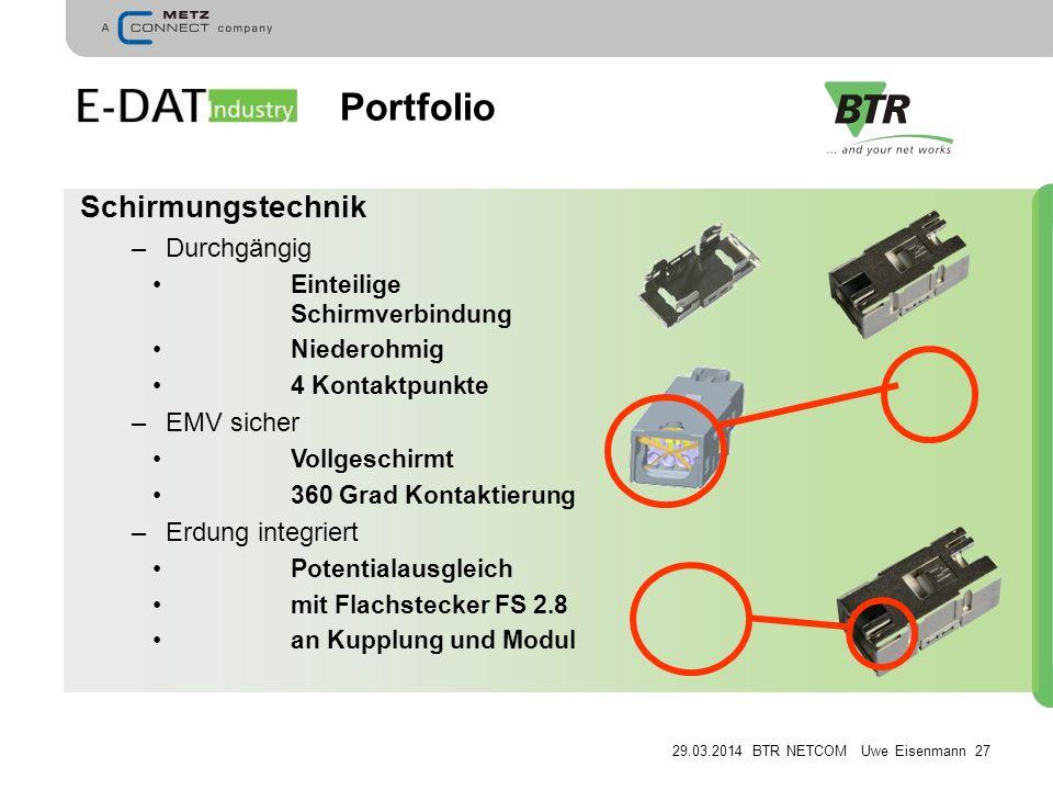 Portfolio Schirmungstechnik Durchgängig EMV sicher Erdung integriert