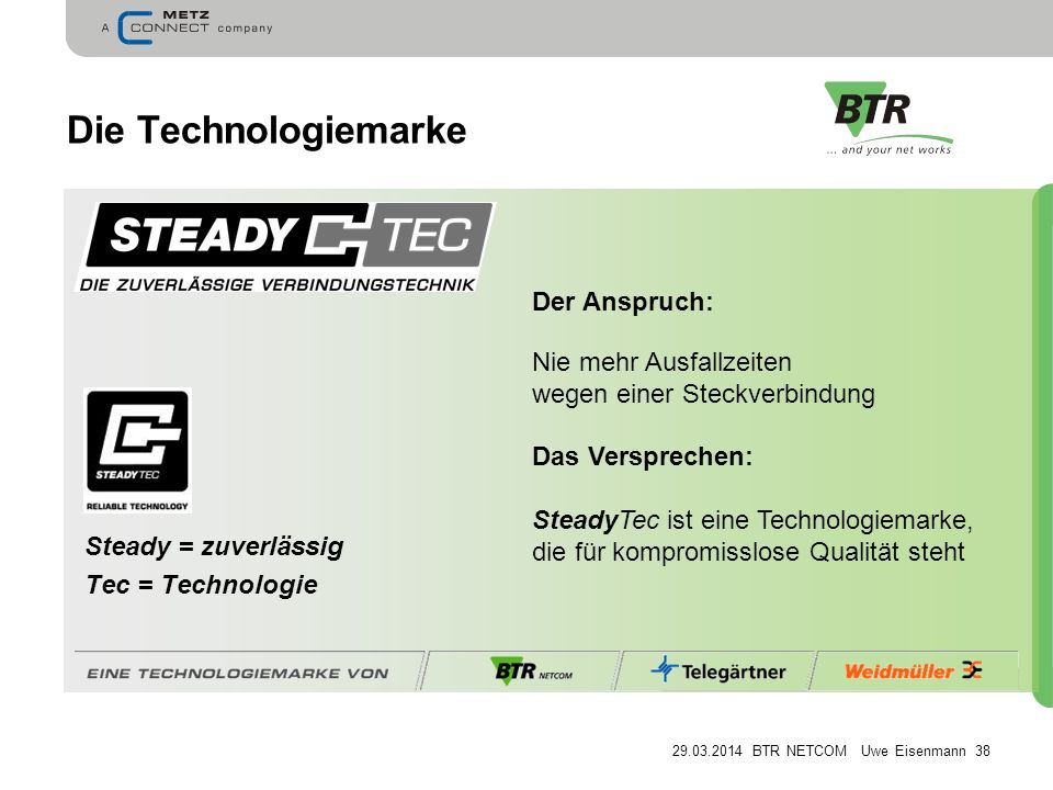 Die Technologiemarke Der Anspruch: Nie mehr Ausfallzeiten