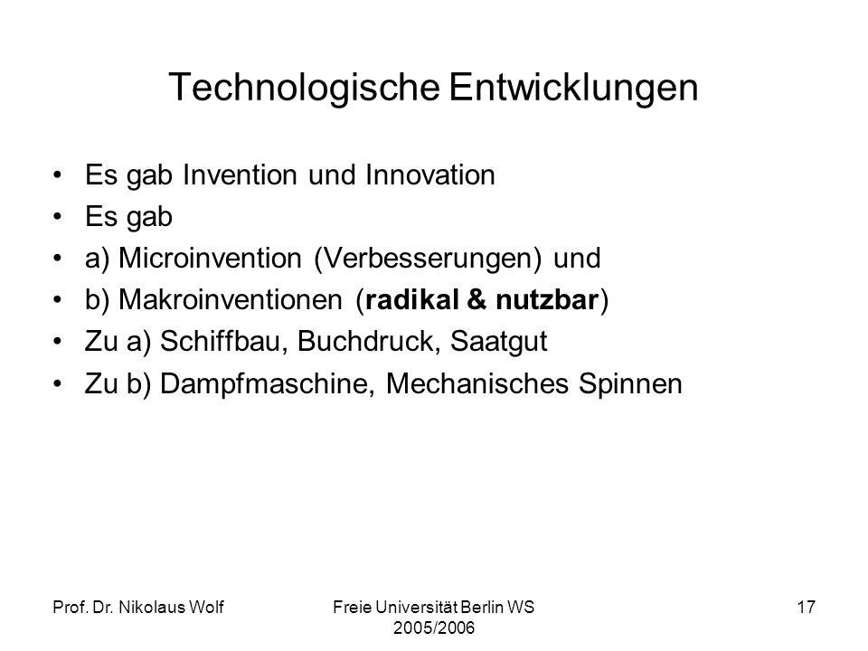 Technologische Entwicklungen