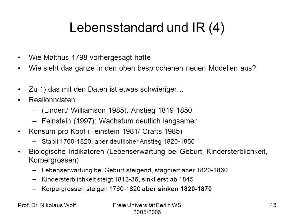 Lebensstandard und IR (4)