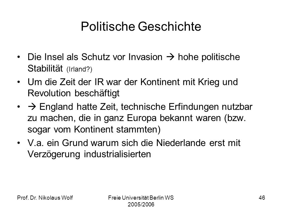Politische Geschichte