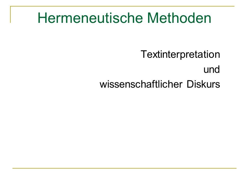 Hermeneutische Methoden