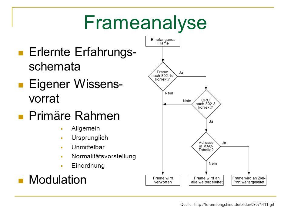 Frameanalyse Erlernte Erfahrungs-schemata Eigener Wissens-vorrat