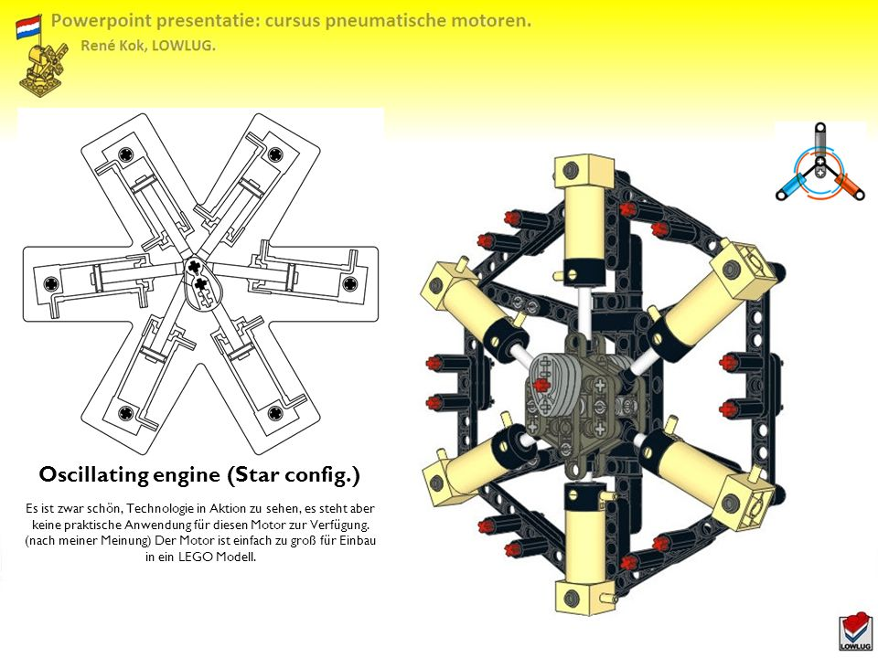 Oscillating engine (Star config.)