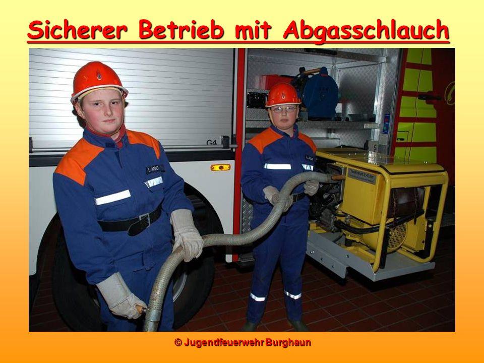 Sicherer Betrieb mit Abgasschlauch