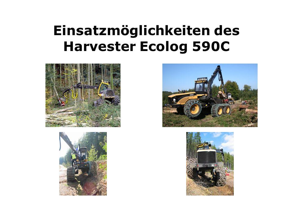 Einsatzmöglichkeiten des Harvester Ecolog 590C