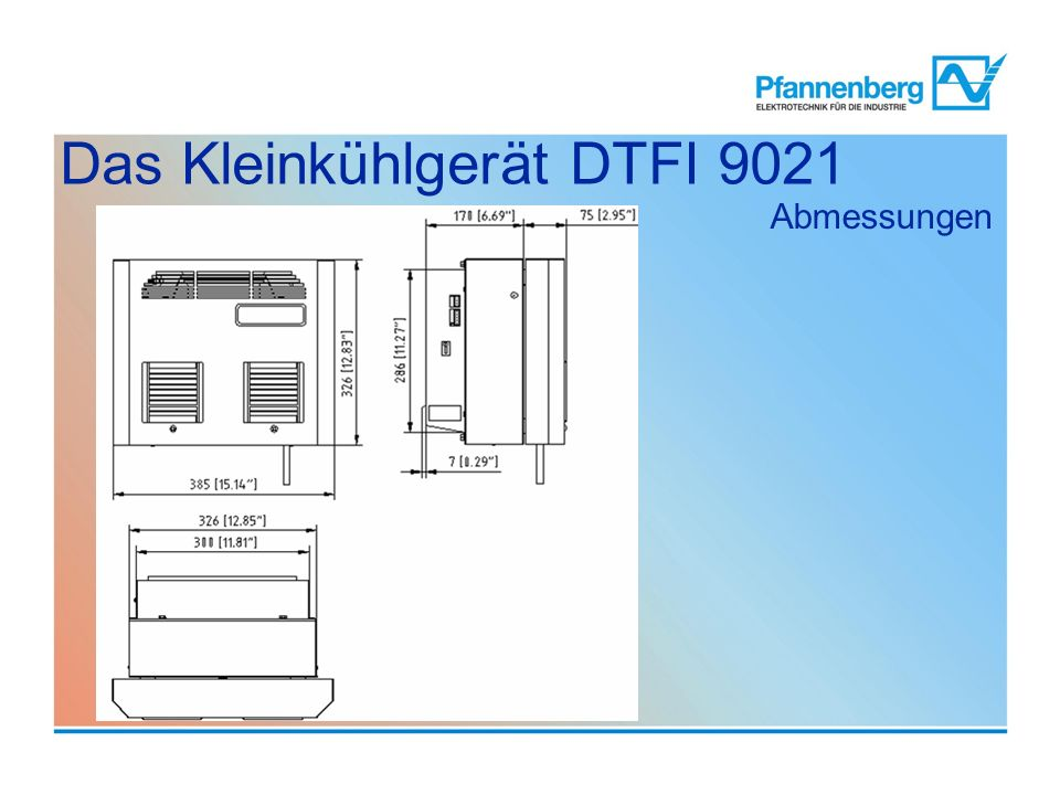 Das Kleinkühlgerät DTFI 9021