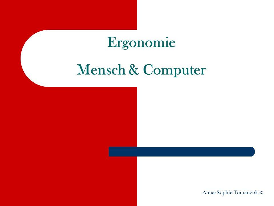 Ergonomie Mensch & Computer