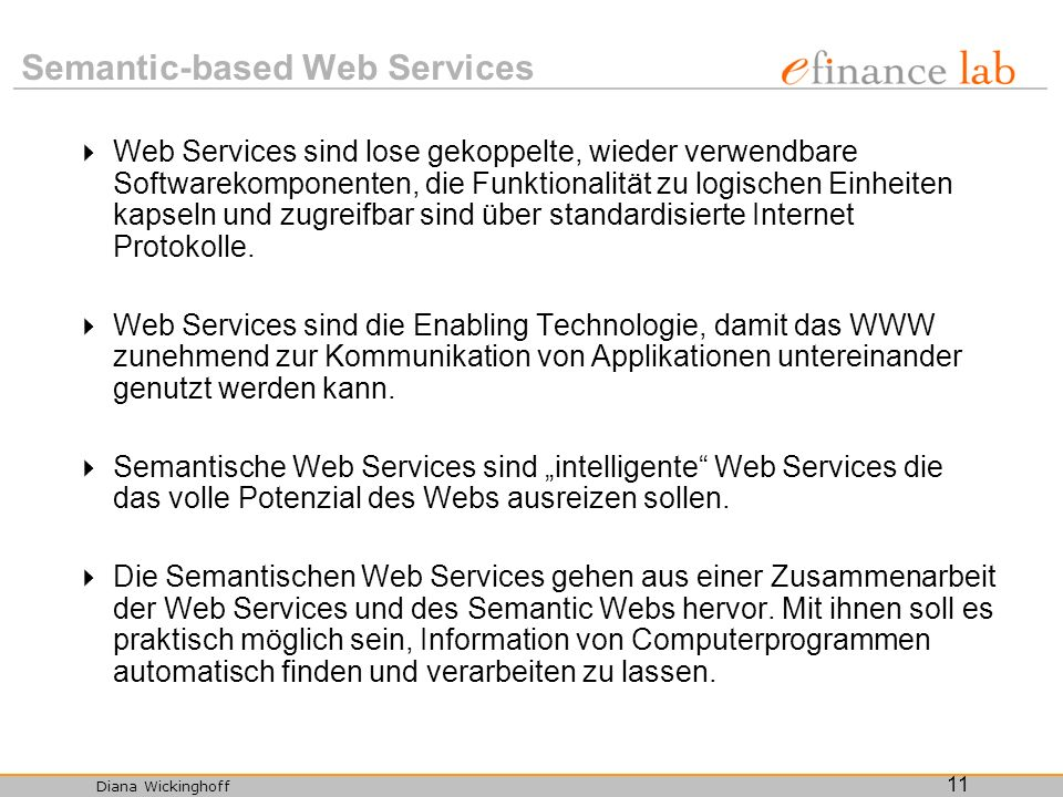 Semantic-based Web Services