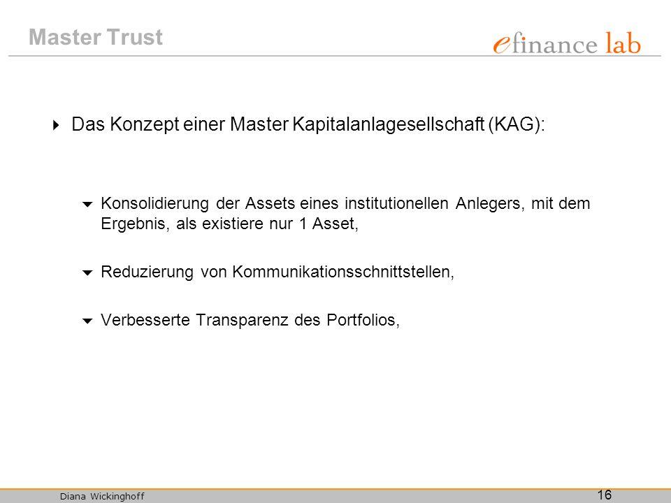 Master Trust Das Konzept einer Master Kapitalanlagesellschaft (KAG):