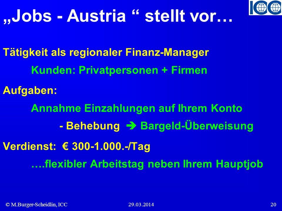 """""""Jobs - Austria stellt vor…"""
