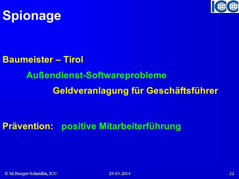 Spionage Baumeister – Tirol Außendienst-Softwareprobleme Geldveranlagung für Geschäftsführer.