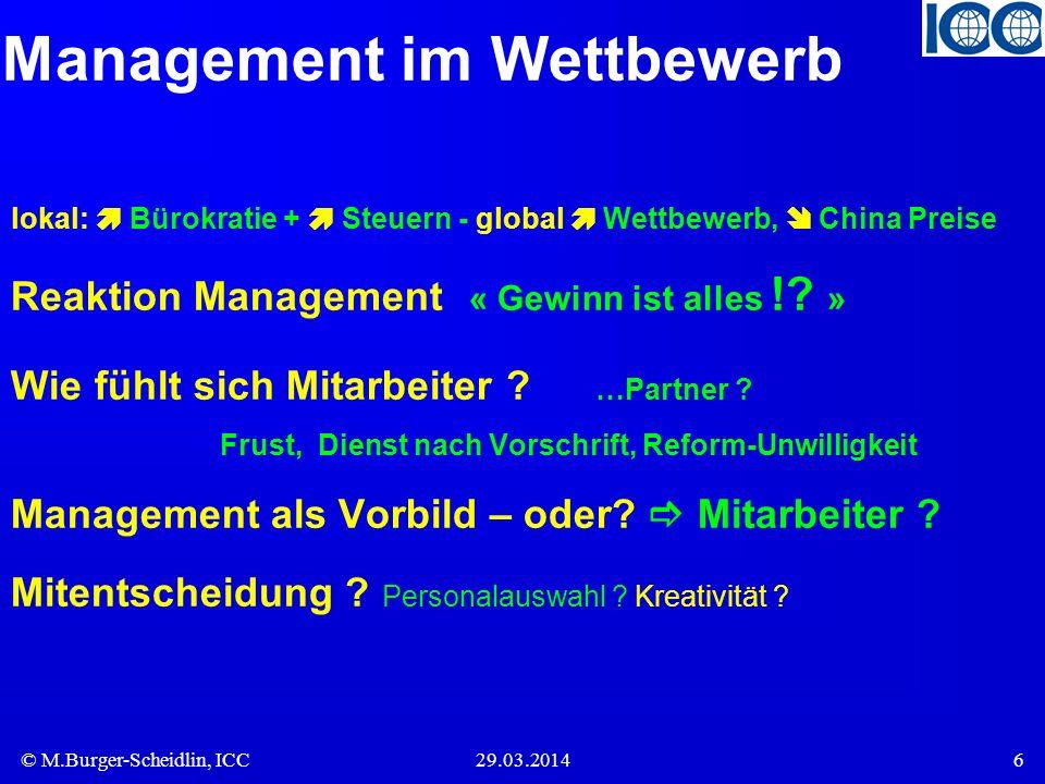 Management im Wettbewerb