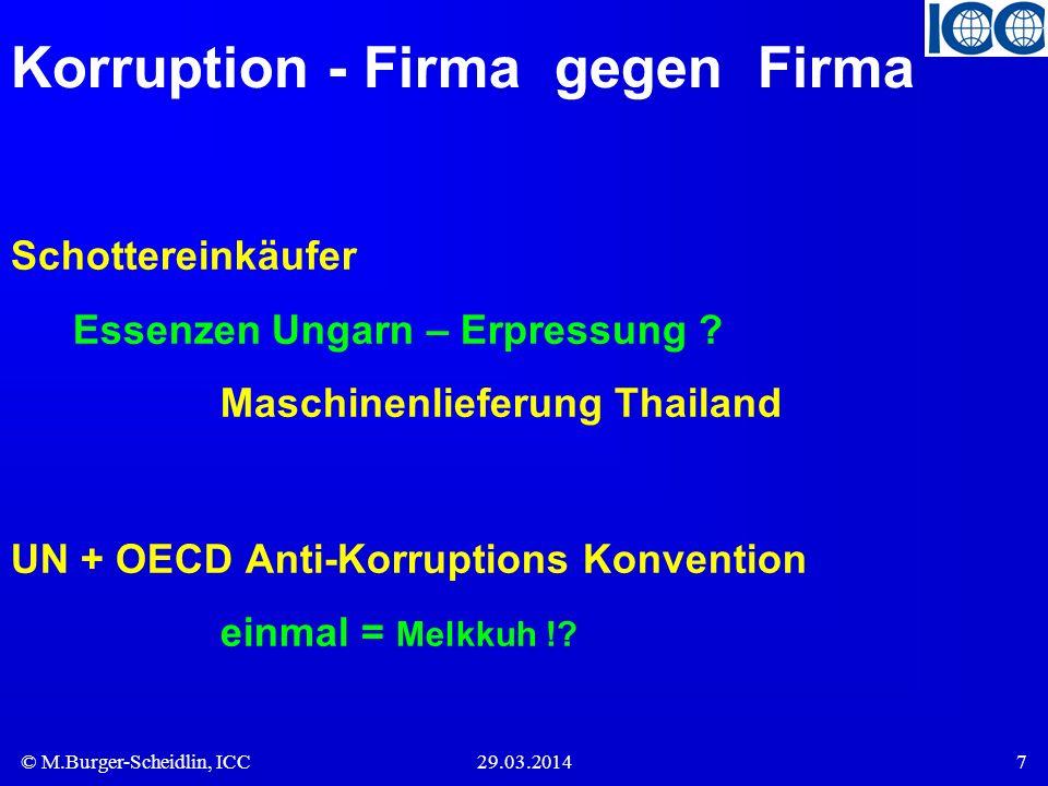 Korruption - Firma gegen Firma