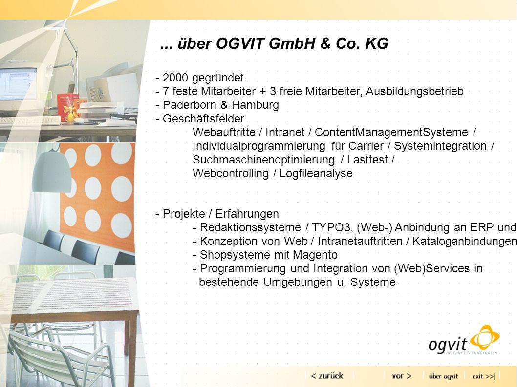 ... über OGVIT GmbH & Co. KG - 2000 gegründet