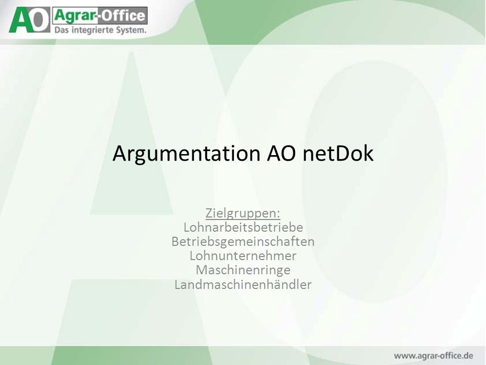 Argumentation AO netDok