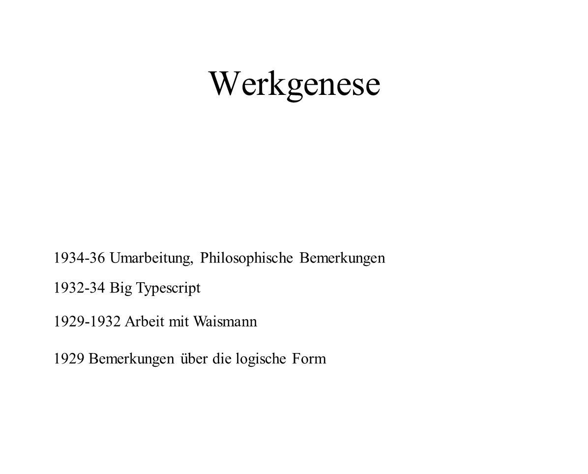Werkgenese 1934-36 Umarbeitung, Philosophische Bemerkungen