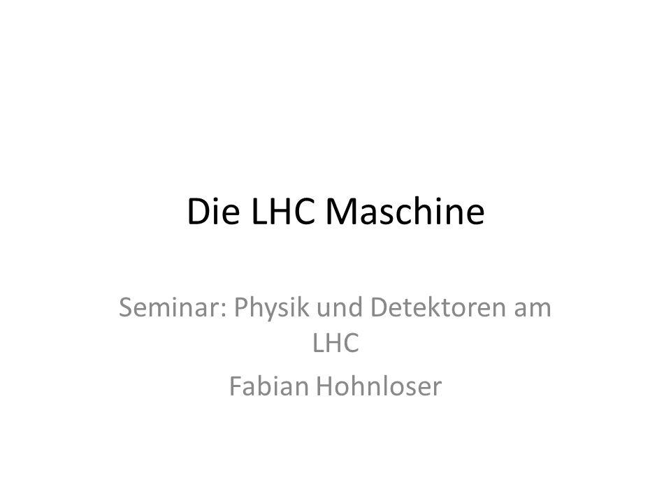 Seminar: Physik und Detektoren am LHC Fabian Hohnloser