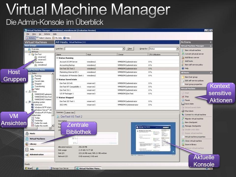 Virtual Machine Manager Die Admin-Konsole im Überblick