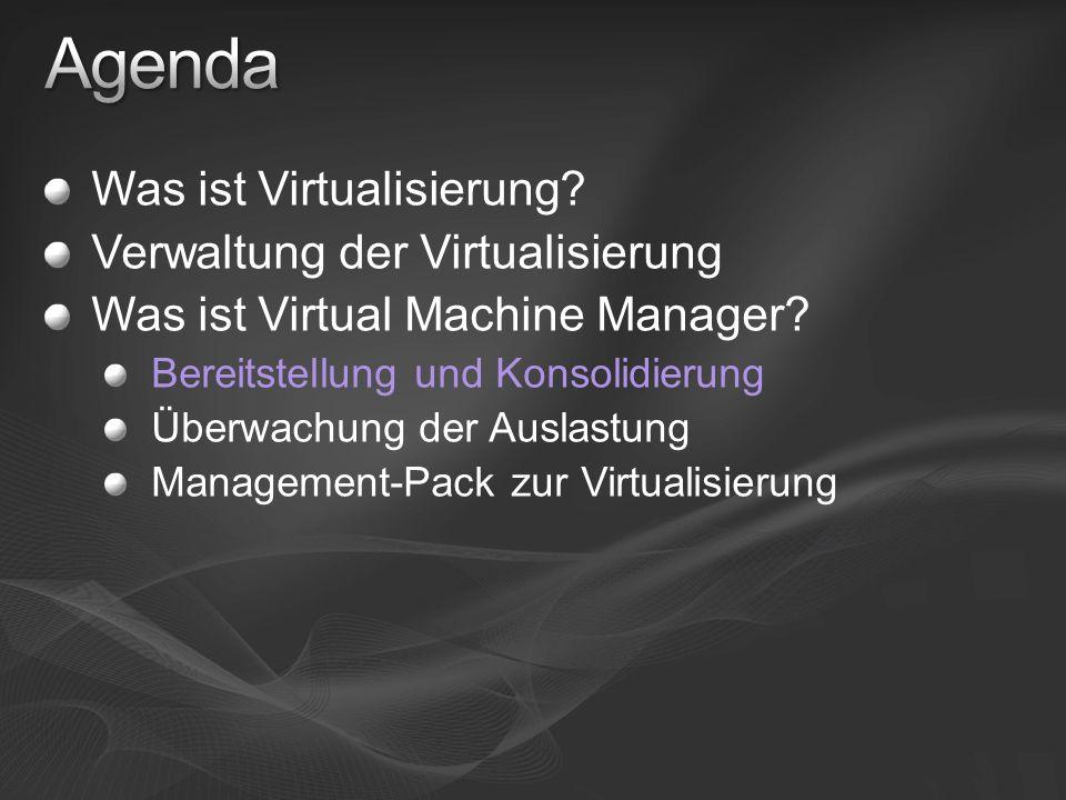 Agenda Was ist Virtualisierung Verwaltung der Virtualisierung