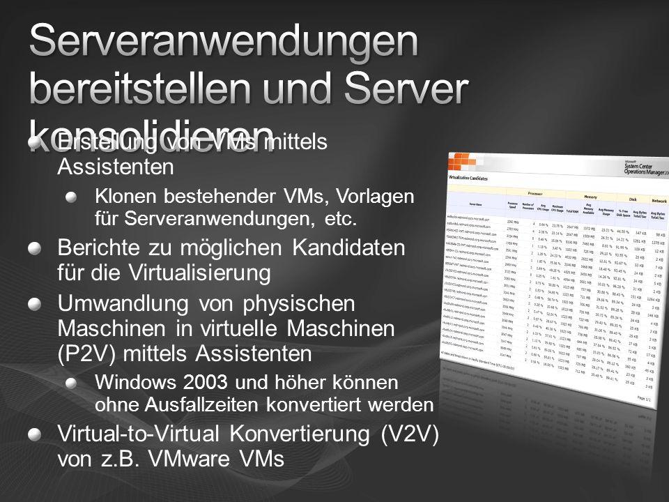 Serveranwendungen bereitstellen und Server konsolidieren