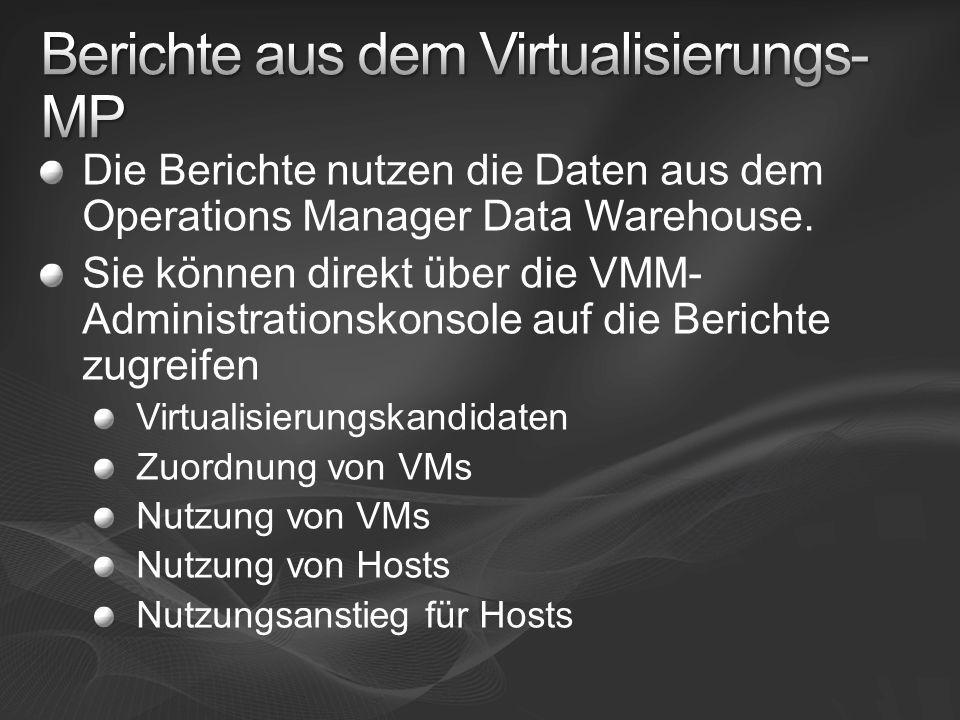 Berichte aus dem Virtualisierungs-MP