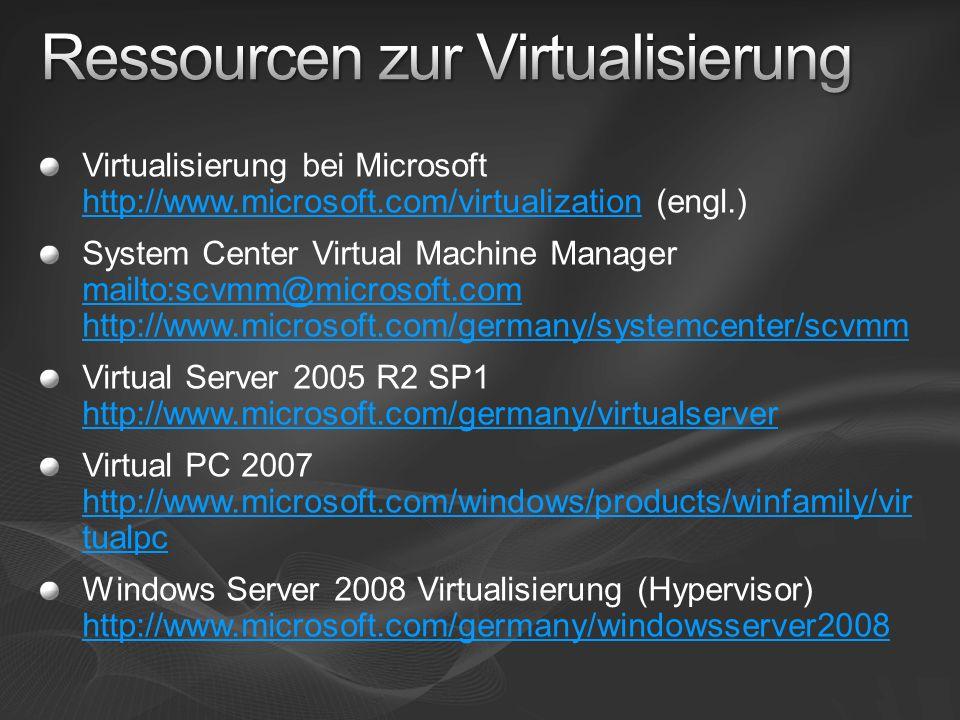 Ressourcen zur Virtualisierung