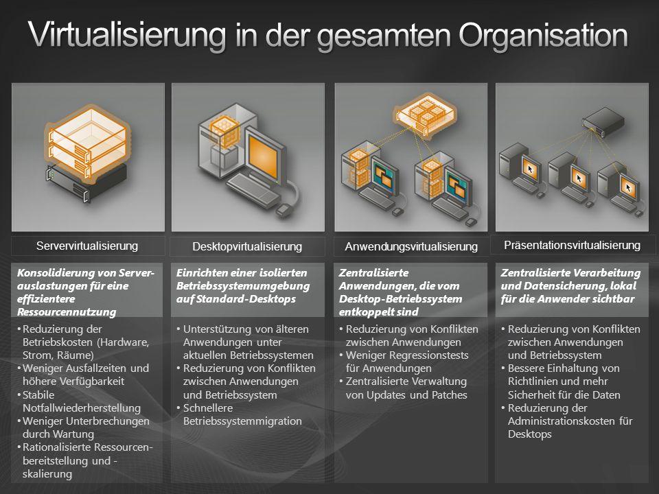 Virtualisierung in der gesamten Organisation