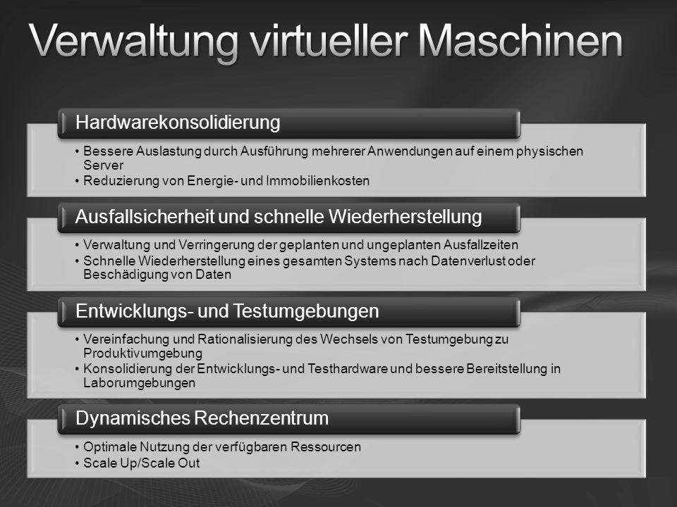 Verwaltung virtueller Maschinen