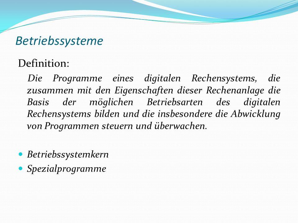 Betriebssysteme Definition: