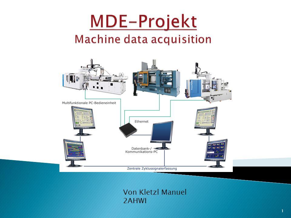 MDE-Projekt Machine data acquisition