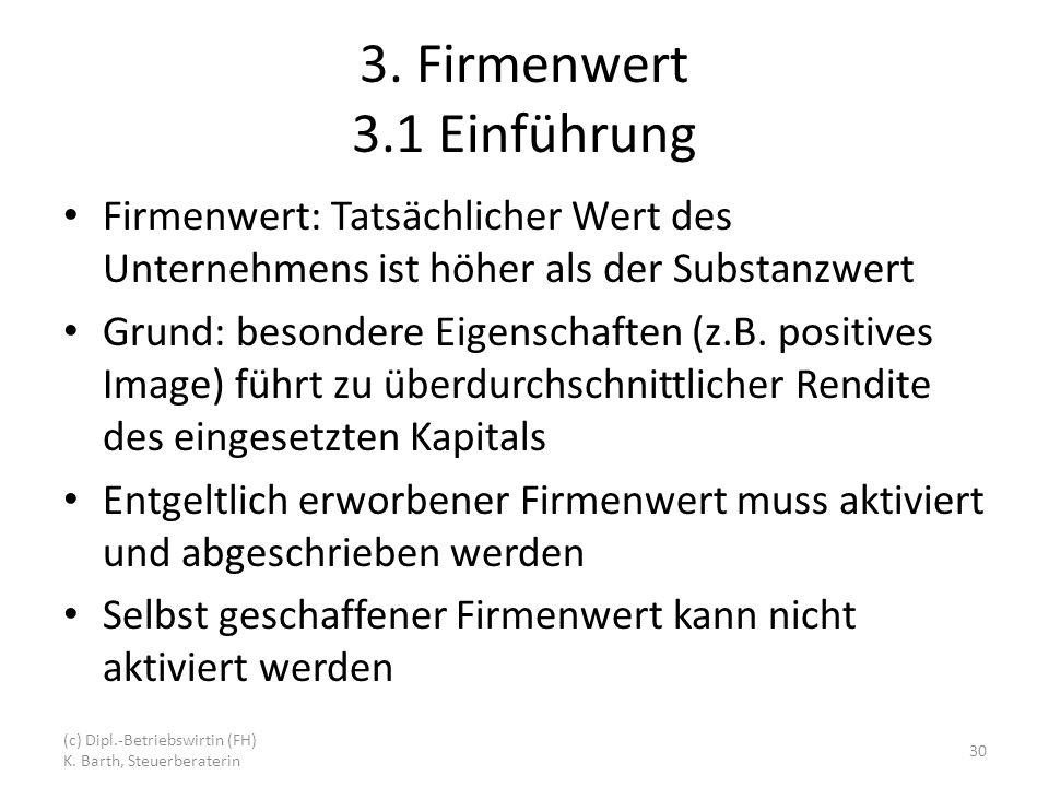3. Firmenwert 3.1 Einführung