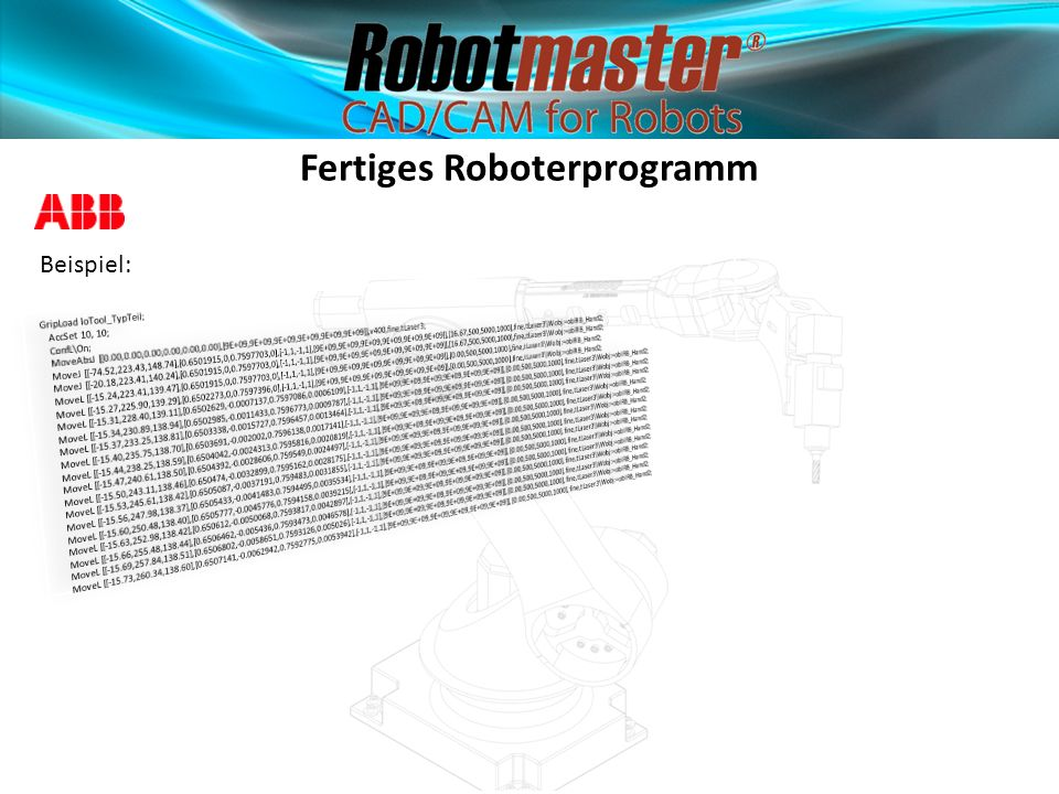 Fertiges Roboterprogramm