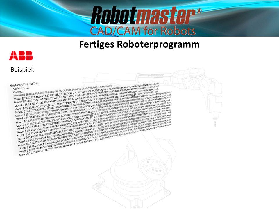 Fertiges Roboterprogramm