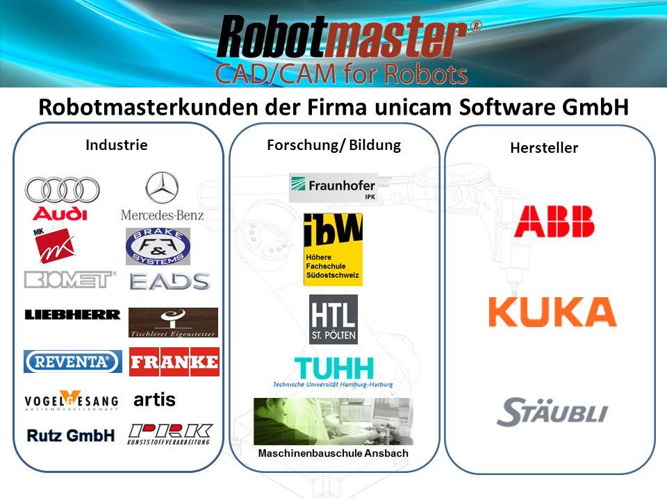 Robotmasterkunden der Firma unicam Software GmbH