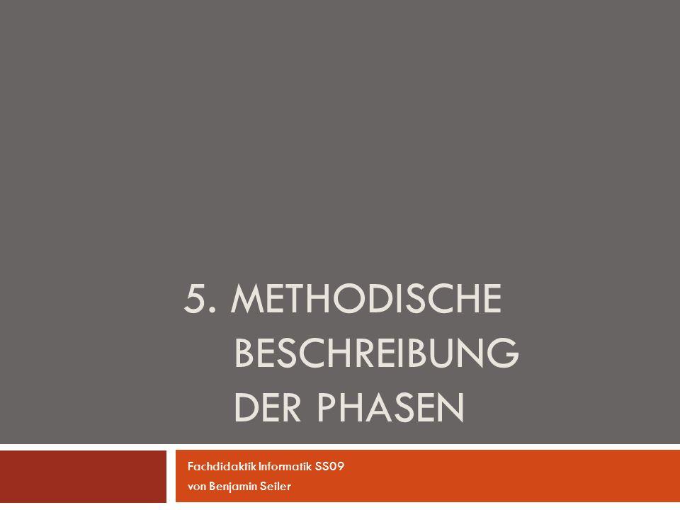 5. Methodische Beschreibung der Phasen