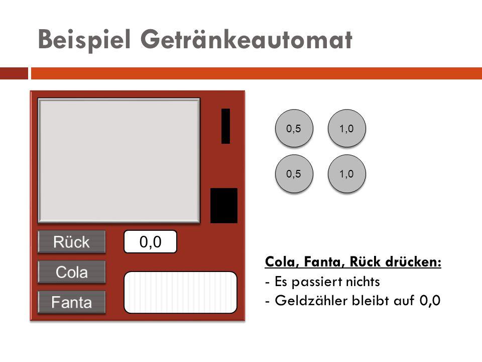 Beispiel Getränkeautomat